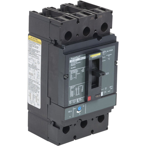 JLL36150 - Square D 150 Amp 3 Pole 600 Volt Molded Case Circuit Breaker