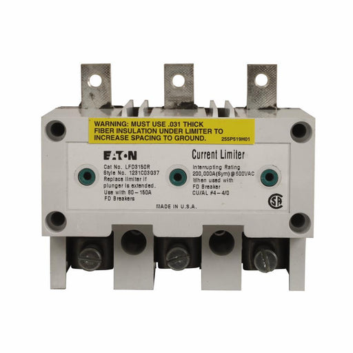 LFD3150R - Eaton Cutler-Hammer 150 Amp 3 Pole Volt Molded Case Circuit Breaker Current Limiter