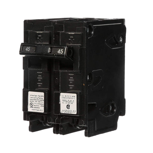 Q245H - Siemens 45 Amp 2 Pole 240 Volt Thermal Magnetic Circuit Breaker