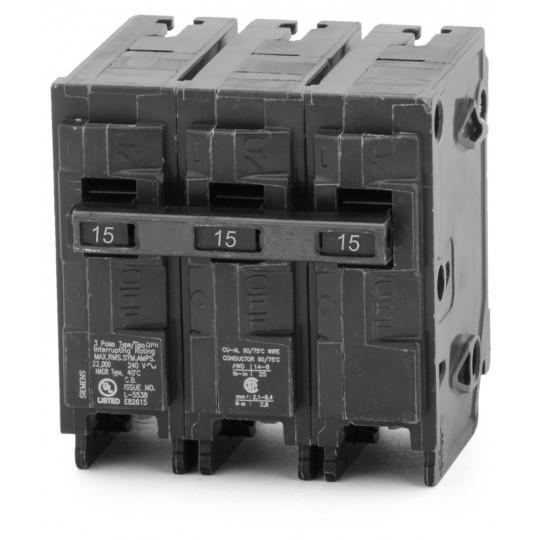 Q315H - Siemens 15 Amp 3 Pole 240 Volt Molded Case Circuit Breaker