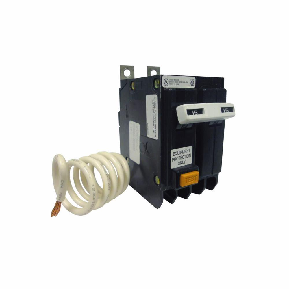 QBGFEP2015 - Eaton Cutler-Hammer 15 Amp 2 Pole 240 Volt Bolt-On Circuit Breaker
