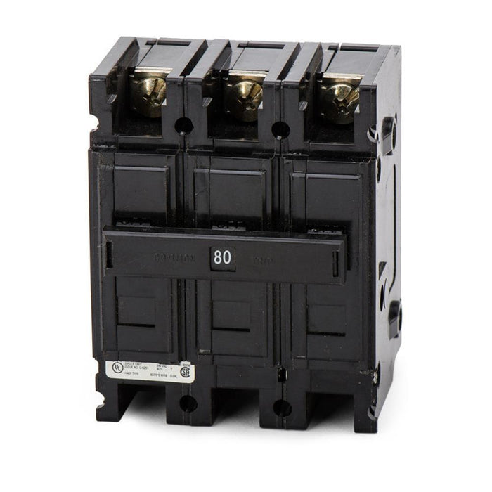 QC3080H - Eaton Cutler-Hammer 80 Amp 3 Pole 240 Volt Molded Case Circuit Breaker