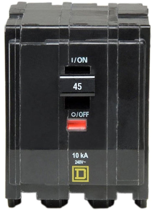 QO345 - Square D 45 Amp 3 Pole Circuit Breaker