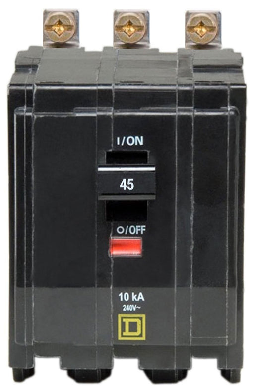 QOB345 - Square D 45 Amp 3 Pole Bolt-On Circuit Breaker