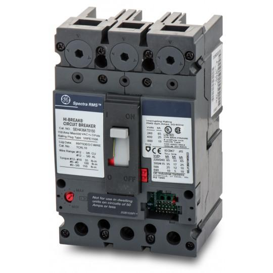 SEHA36AT0150 - GE 150 Amp 3 Pole 600 Volt Bolt-On Molded Case Circuit Breaker