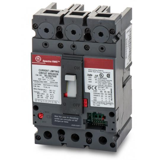 SELA36AT0030 - GE 30 Amp 3 Pole 600 Volt Bolt-On Molded Case Circuit Breaker