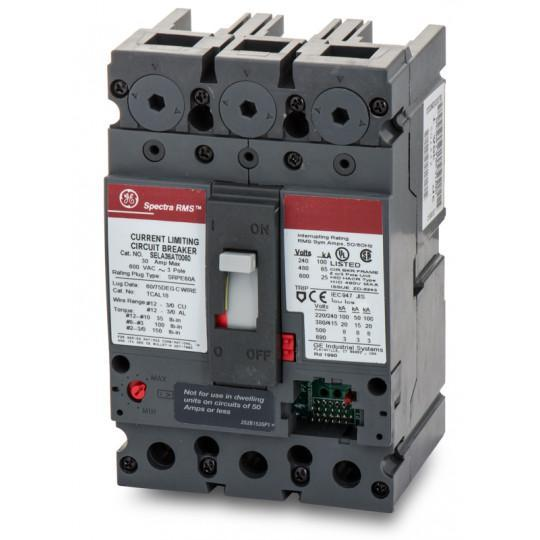 SELA36AT0060 - GE 60 Amp 3 Pole 600 Volt Bolt-On Molded Case Circuit Breaker