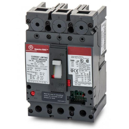 SEPA36AT0150 - GE 150 Amp 3 Pole 600 Volt Bolt-On Molded Case Circuit Breaker