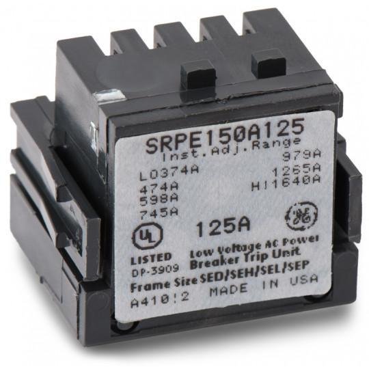 SRPE150A125 - GE 125 Amp 3 Pole 600 Volt Molded Case Circuit Breaker Rating Plug