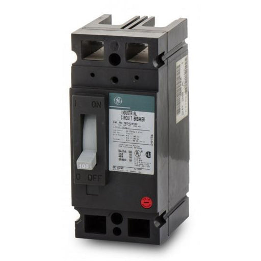 TED124100WL - GE 100 Amp 2 Pole 480 Volt Molded Case Circuit Breaker General Electric Lug