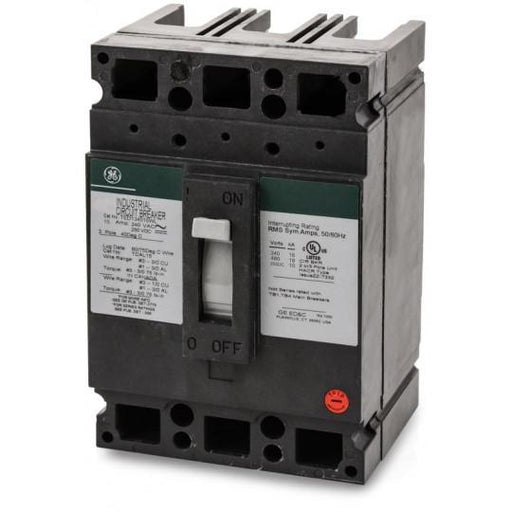 TED134015WL - GE 15 Amp 3 Pole 480 Volt Molded Case Circuit Breaker General Electric Lug