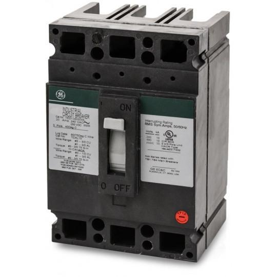 TED134020WL - GE 20 Amp 3 Pole 480 Volt Molded Case Thermal Magnetic Circuit Breaker