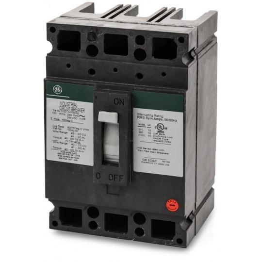 TED134100WL - GE 100 Amp 3 Pole 480 Volt Molded Case Thermal Magnetic Circuit Breaker