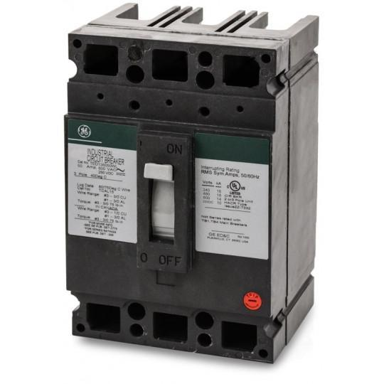 TED136050WL - GE 50 Amp 3 Pole 600 Volt Molded Case Thermal Magnetic Circuit Breaker