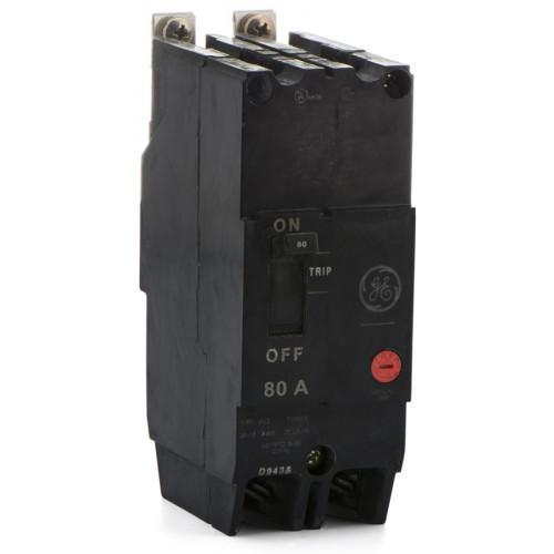 TEY280 - GE 80 Amp 2 Pole 480 Volt Bolt-On Molded Case Circuit Breaker