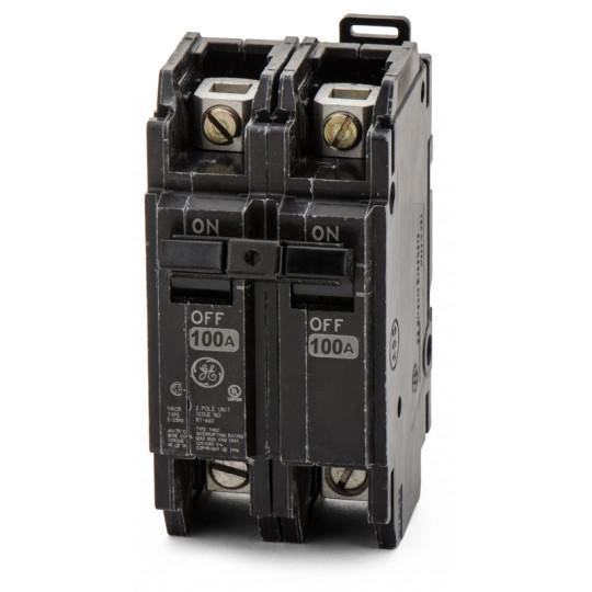 THQC21100WL - GE 100 Amp 2 Pole 240 Volt Molded Case Circuit Breaker