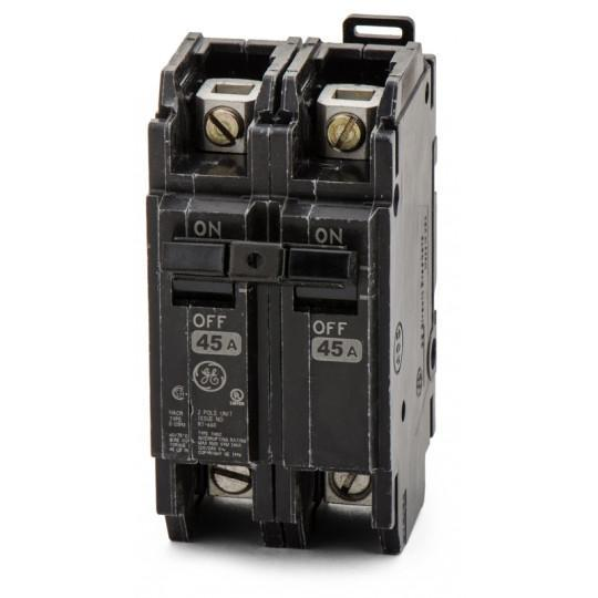 THQC2145WL - GE 45 Amp 2 Pole 240 Volt Molded Case Circuit Breaker
