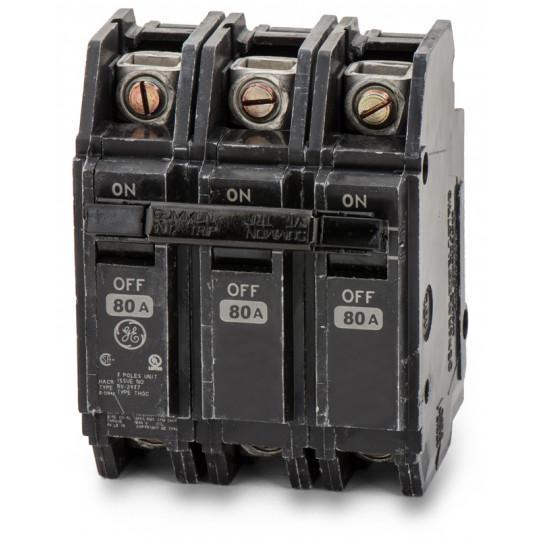 THQC32080WL - GE 80 Amp 3 Pole 240 Volt Molded Case Circuit Breaker