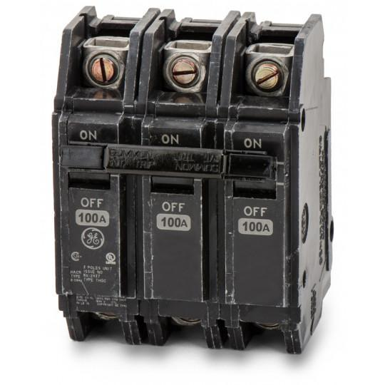 THQC32100WL - GE 100 Amp 3 Pole 240 Volt Molded Case Circuit Breaker