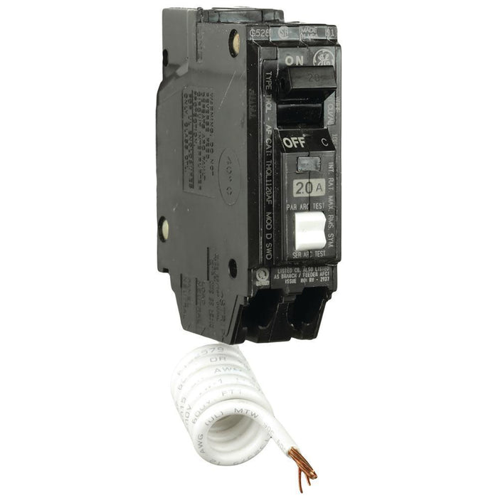 THQL1120AF2 - GE 20 Amp Single Pole Combination AFCI Arc Fault Circuit Breaker