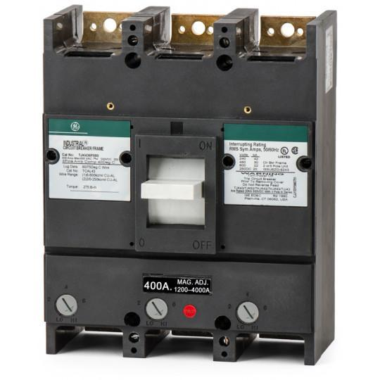 TJK436400WL - GE 400 Amp 3 Pole 600 Volt Molded Case Circuit Breaker