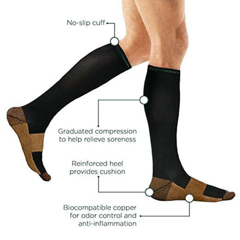 6470c22ff8 INCREASE CIRCULATION - Provide mild squeezing of warmness and enhance blood  circulation in your legs. It is great gift to joggers, athletes, ...