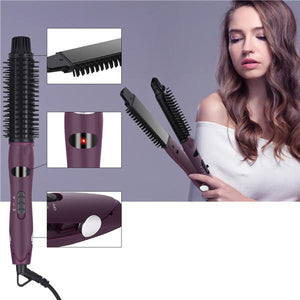 2 in 1 Hair Straightener Curler Comb Ionic Styler