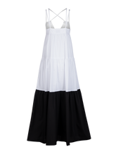 Load image into Gallery viewer, Cross Strap White Poplin Maxi Dress