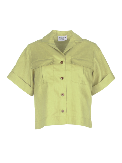 Safari Celery Linen Shirt