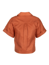 Load image into Gallery viewer, Safari Terracotta Linen Shirt