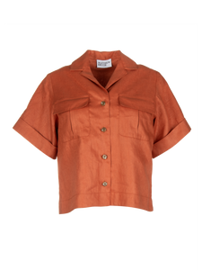 Safari Terracotta Linen Shirt