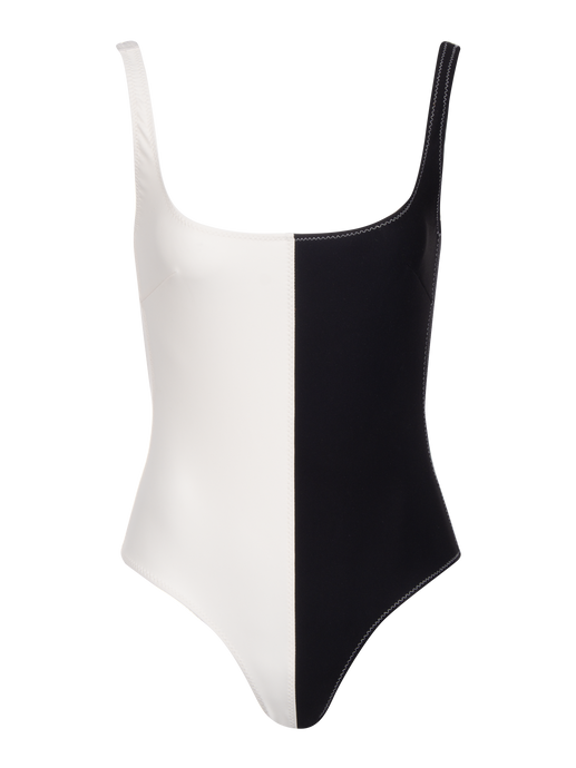 Anna Black Colorblock One Piece