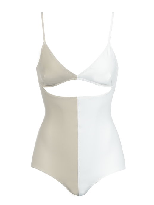 Kimmie Cream Colorblock One Piece