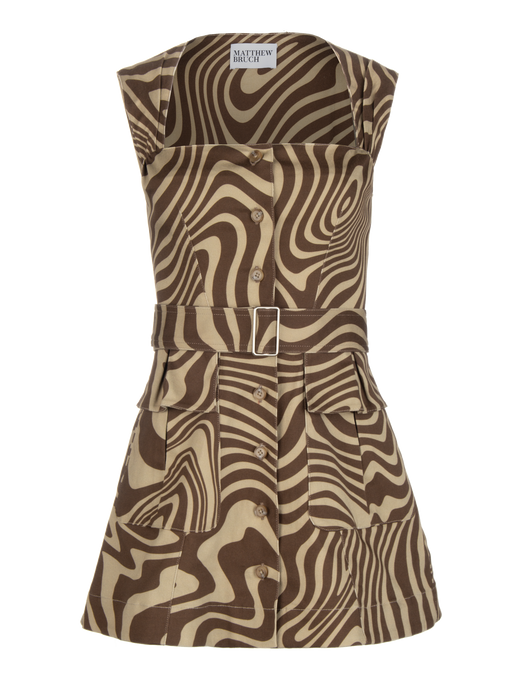 Apron Cargo Twill Mini Dress