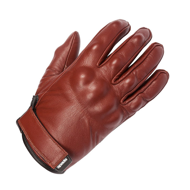 Spada Wyatt Armoured Leather Summer Gloves for Men, Oxblood - Foxxmoto