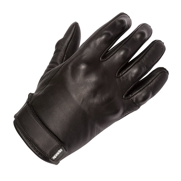 Spada Wyatt Armoured Leather Summer Gloves for Men, Black - Foxxmoto