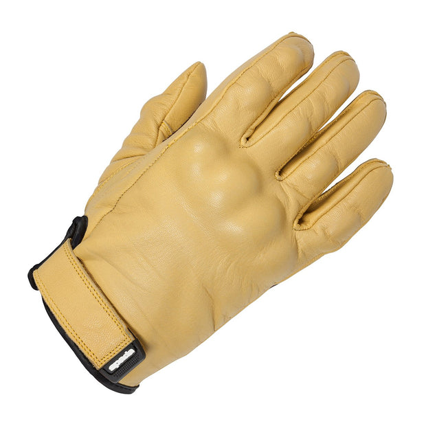Spada Wyatt Armoured Leather Summer Gloves for Men, Tan - Foxxmoto