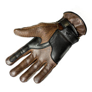 Helstons Corporate 8 Motorcycle Gloves - Camel/Black at Foxxmoto