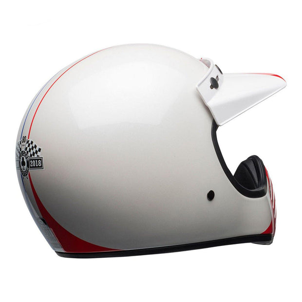 Bell Cruiser Moto 3 Helmet, Ace Cafe GP 66 White, Blue & Red - Foxxmoto