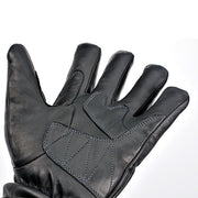 Davida 45 Touring, Leather Gloves, Black - Foxxmoto
