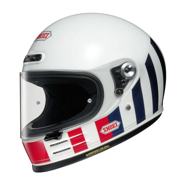 Shoei Glamster Helmet, Resurrection TC10 White / Red / Blue - Foxxmoto