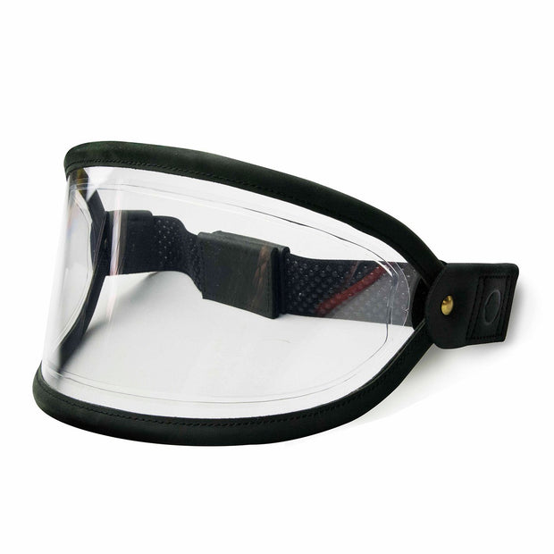 Hedon Heroine Goggle Visor, Black Trim & Clear Lens with steel rivets - Foxxmoto