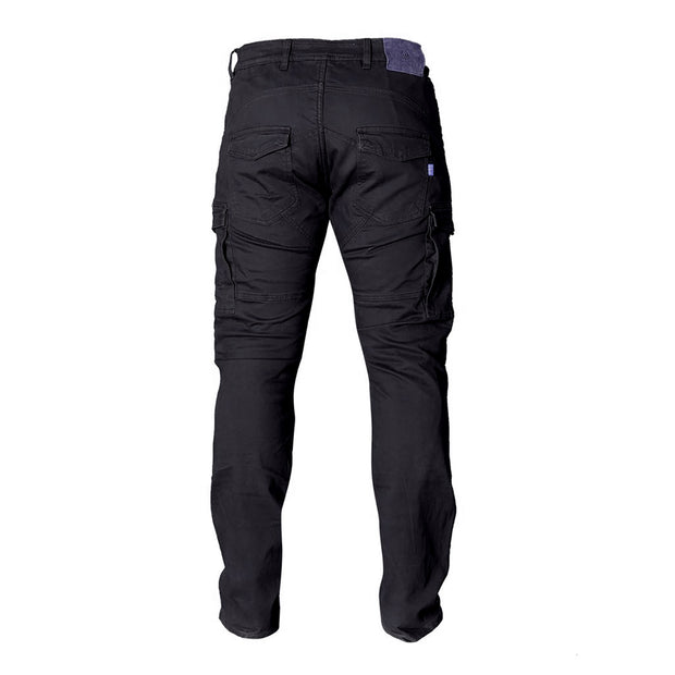 Merlin Harlow Motorcycle Armoured Cargo Jeans, Black at Foxxmoto