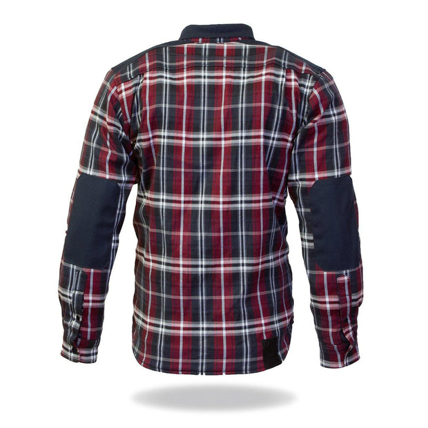 Merlin Hendrix, Armoured Kevlar Lined Riding Shirt, Red / Blue Chequer - Foxxmoto