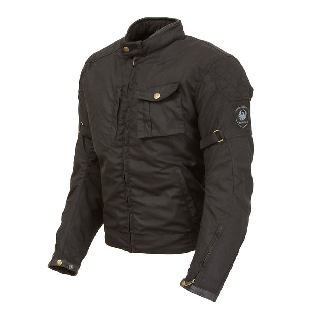 Merlin Lythe, Waxed Cotec, D3O Armoured, Outlast Motorcycle Jacket at Foxxmoto