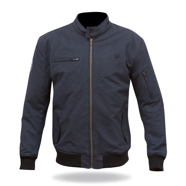 Merlin Wesley, Harrington Style Waxed Armoured Riding Jacket - Foxxmoto