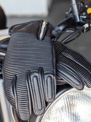 Merlin Padget, Leather Gloves - Foxxmoto
