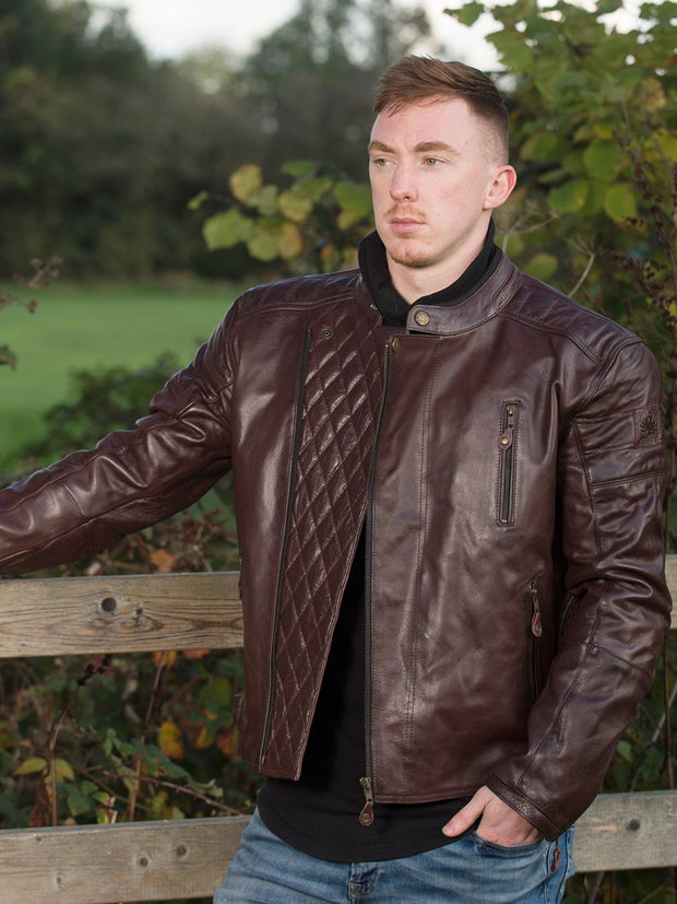 Merlin Lichfield, Leather Armoured Motorcycle Jacket - Foxxmoto