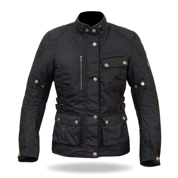 Merlin Harriet, Waxed Armoured Motorcycle Jacket - Foxxmoto