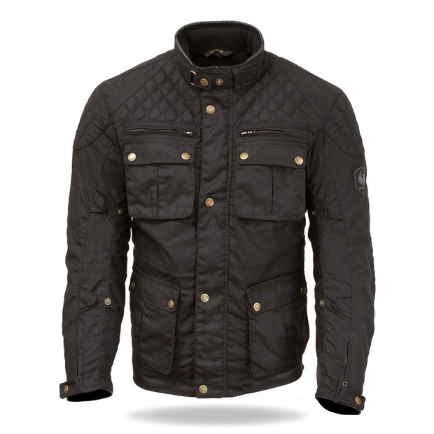 Merlin Edale, Waxed Armoured Motorcycle Jacket - Foxxmoto